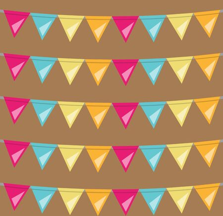 bunting flags: seamless bunting flags background Illustration