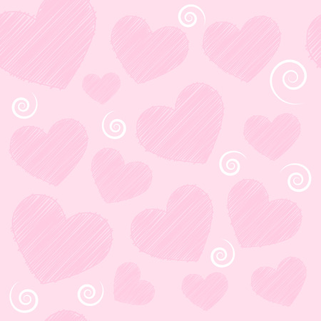 hearts background: seamless hearts background Illustration