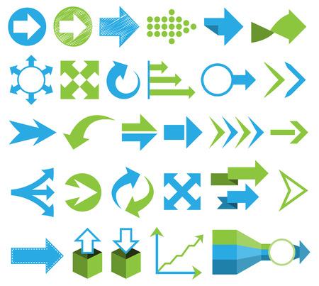 arrows vector: arrows vector set flat design