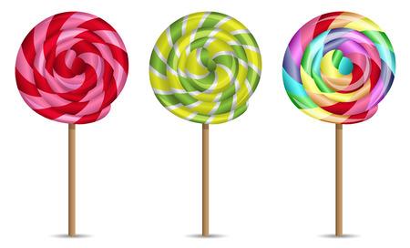 lollipops vector set