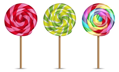 lollipops vector set
