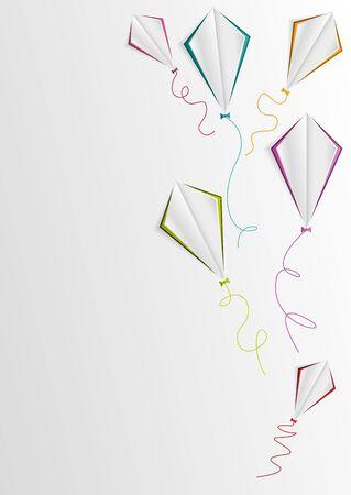tinkered: white kites background vector illustration