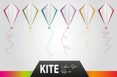 unfolded: kites vector set