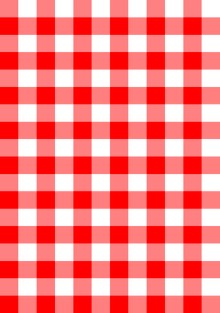picnic blanket: seamless checkered fabric background vector pattern