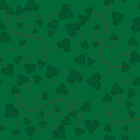 buzzer: seamless background pattern vector ivy