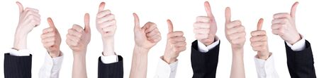 thumbs up business: Thumbs up business man isolated