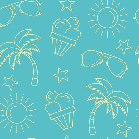 pattern background: Summer seamless pattern background Illustration