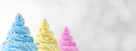 colorful soft ice cream banner