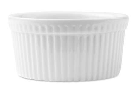 souffle: isolated white souffle dish