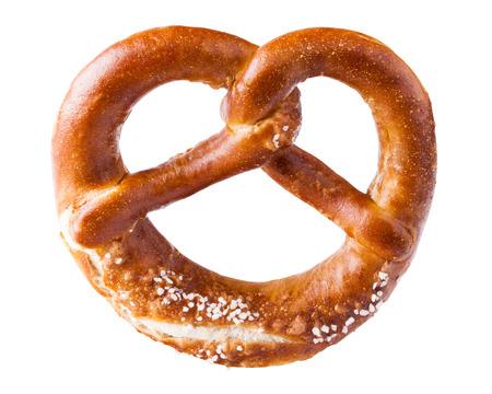 crusty: pretzel on white background