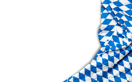 white flag: isolated bavarian Oktoberfest tablecloth