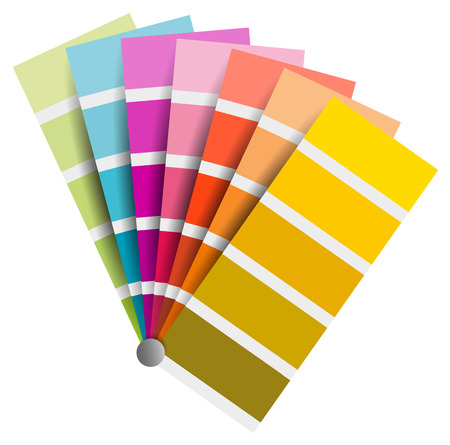 color chart vector on white background Ilustracja