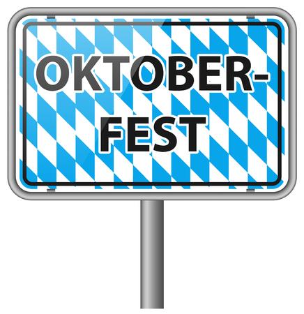 bavarian culture: oktoberfest sign vector