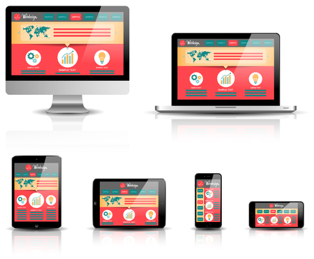 responsive design: responsive web design devices vector
