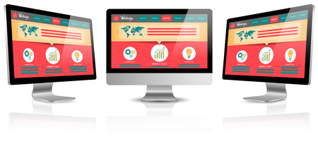 monitor screen: computer screen monitor vector