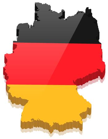 deutschland karte: Deutschland Karte Vektor 3D
