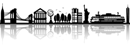 new york skyline: new york skyline vector silhouette Illustration