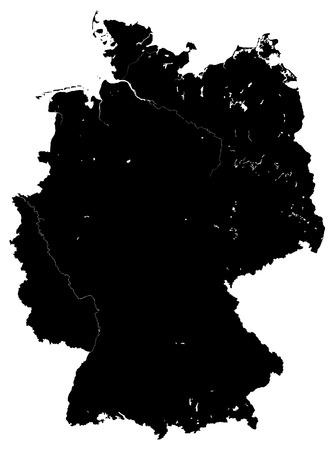 deutschland karte: Deutschland Karte Vektor schwarz wei�