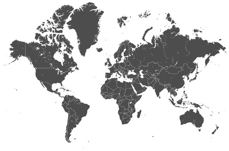 world map countries vector
