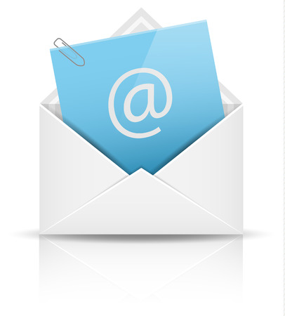 contact information: email newsletter vector icon Illustration