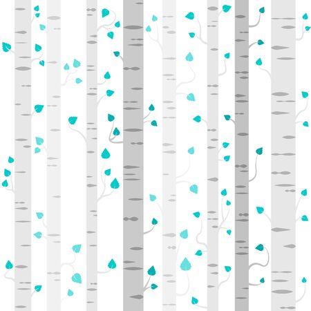 tress: seamless birch tress pattern background Illustration