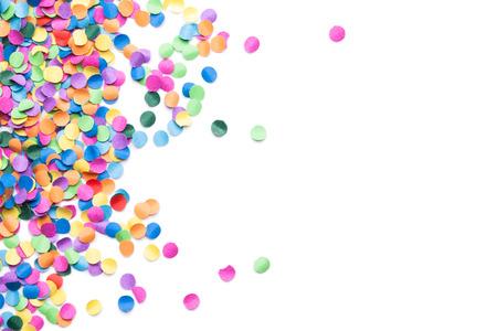 colorful confetti on white background Archivio Fotografico