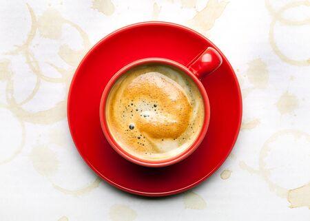 capuchino: taza de café de fondo Foto de archivo