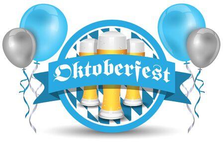 bavarian culture: oktoberfest vector icon