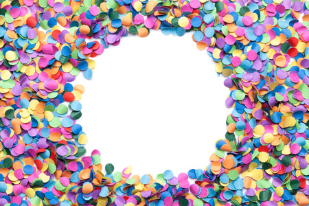 colorful confetti on white background Stok Fotoğraf - 52826654