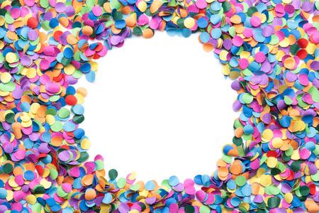 circle shape: colorful confetti on white background Stock Photo