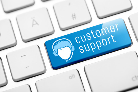 business support: customer support key on keyboard Stock Photo