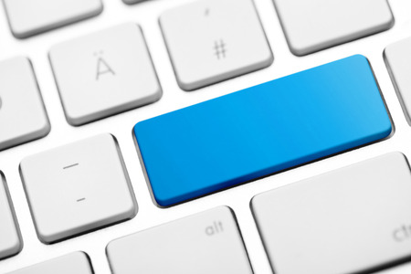 blue button: blank key computer keyboard