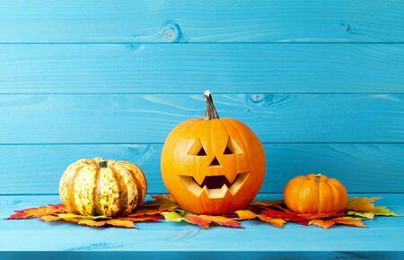halloween pumpkins autumn background Imagens