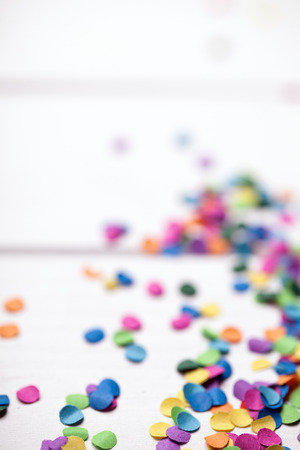 party decoration: colorful confetti background