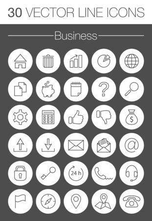 home finances: business vector icons set Illustration