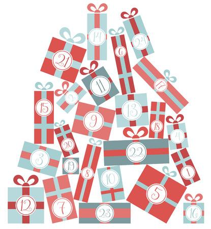 advent calendar: advent calendar christmas vector