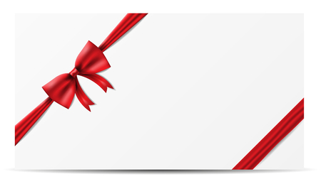 red ribbon bow banner vector