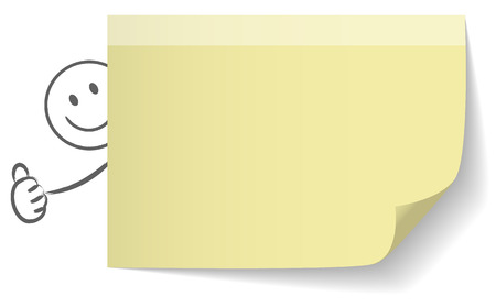 thumbs up: papernote vector thumbs up