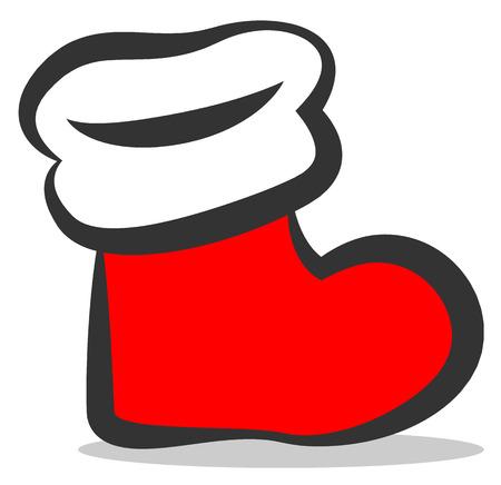 stuffer: christmas stocking vector icon