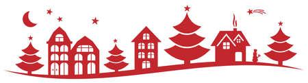 urbane: winter christmas landscape vector