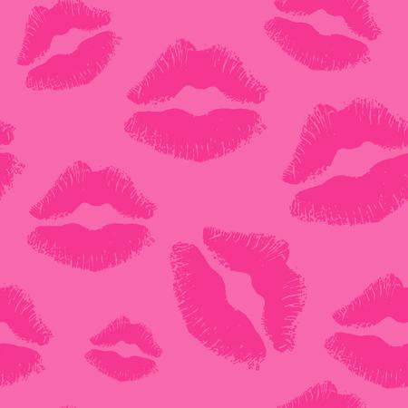 smooch: seamless kiss lips background Illustration