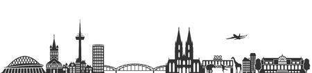 urbane: cologne skyline German city Illustration