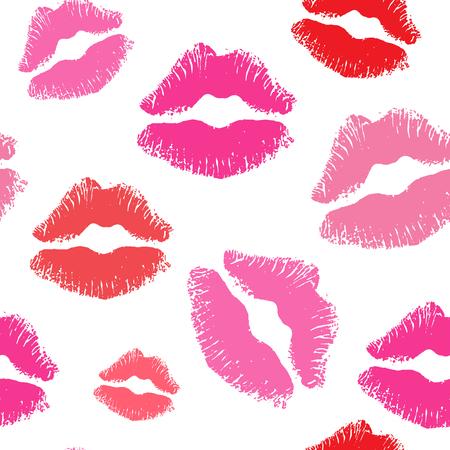 seamless kiss lips background pattern Stock Illustratie