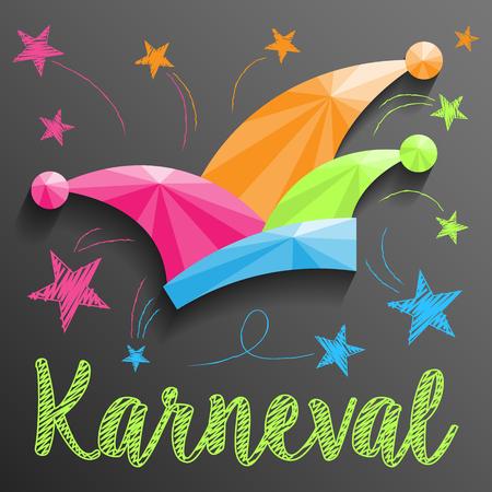 jester hat: carnival jester hat vector German