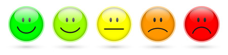 good mood: smiley faces rating icons
