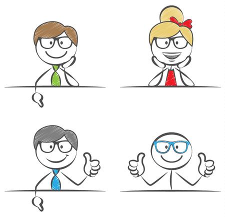 stickfigures business thumbs up