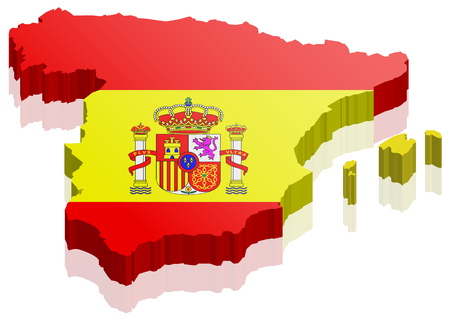spain spain map with flag