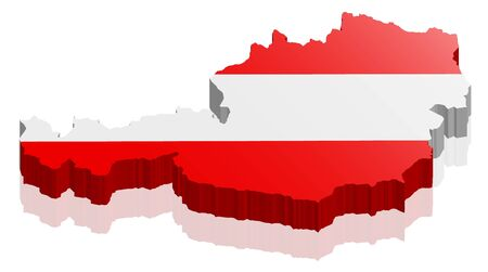 austria: austria 3d map Illustration