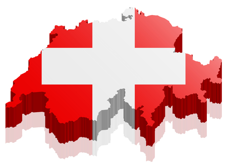 switzerland flag: switzerland map 3d