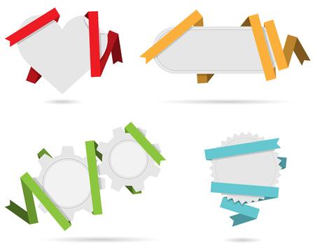origami banner: origami banner set Illustration
